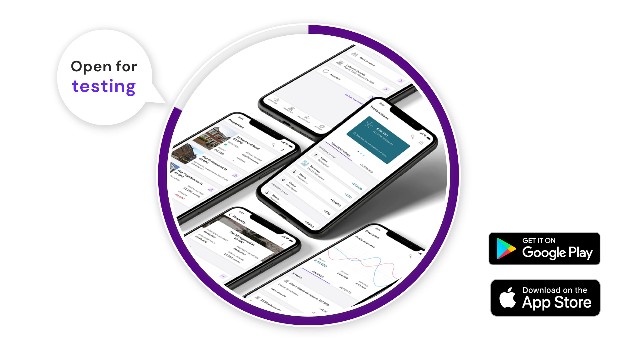 property finances management mobile app beta