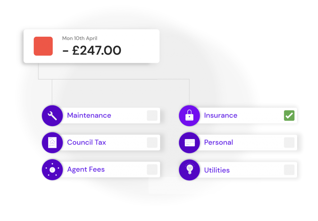 income and expense payment categories available at Hammock