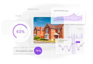 property finance insights, profit and loss graph, cashflow statement, LTV ratio, occupancy rate statistics available on Hammock